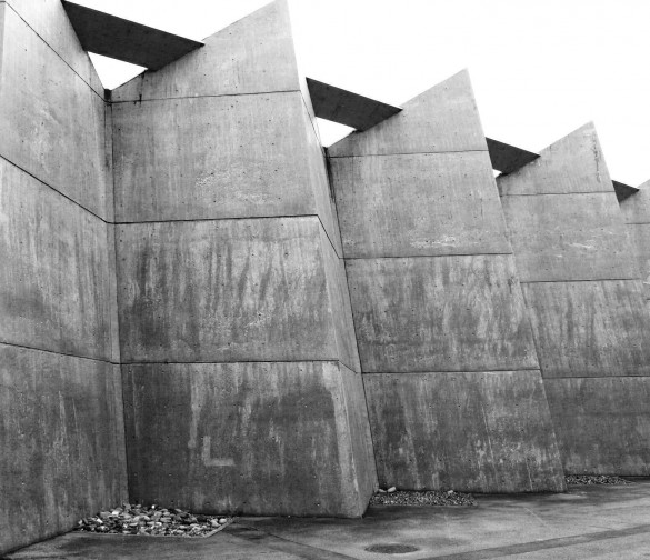 Antonin Raymond's Gunma Music Center (1961) in Takasaki, Japan. Photo: ida-10 (Flickr)